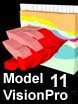 Model Vision 10 2D Magnetics and Gravity modeling